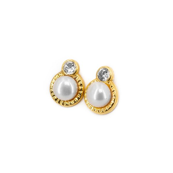 18kt 750 Gold and pearl earrings