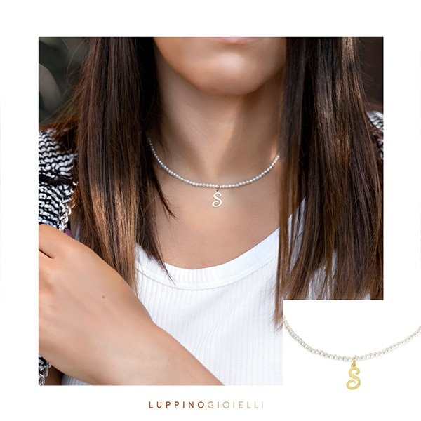 Choker necklace pearls 3.5mm