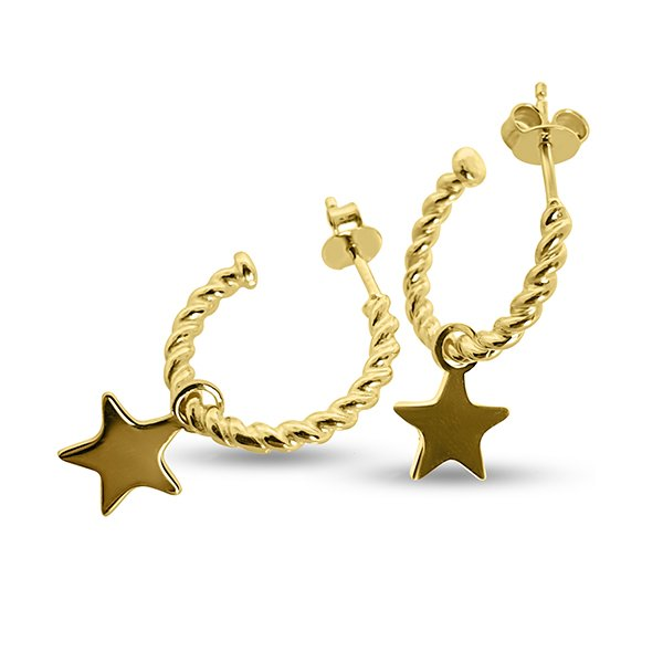 Silver circles with star charm