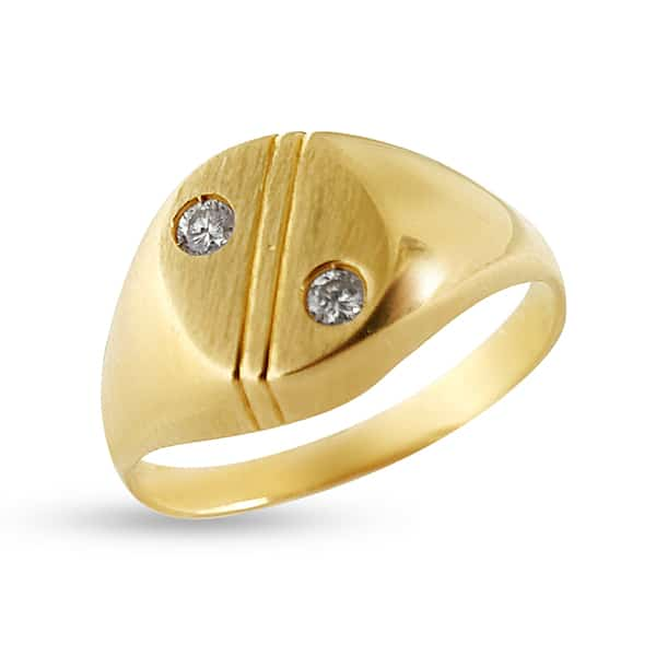 750 gold men's ring with diamonds