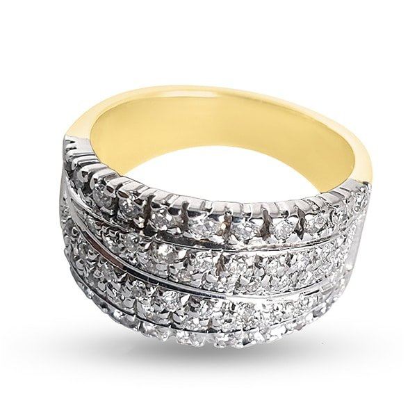 18k Gold band ring with 0.70ct diamonds