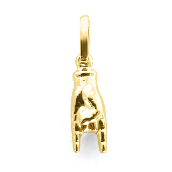 Hand pendant with horns in 750 gold