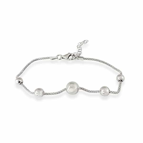 Bracelet with sterling silver spheres