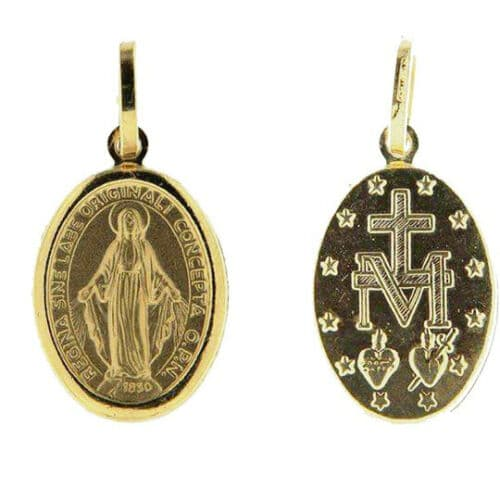 Miraculous medal in 18k 750 gold