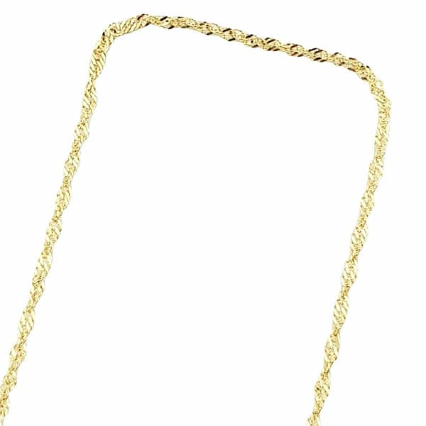 18k 750 gold singapore necklace